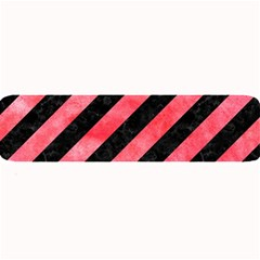 Stripes3 Black Marble & Red Watercolor (r) Large Bar Mats