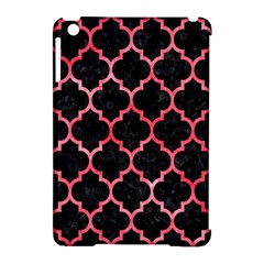 Tile1 Black Marble & Red Watercolor (r) Apple Ipad Mini Hardshell Case (compatible With Smart Cover)