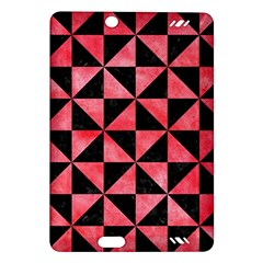 Triangle1 Black Marble & Red Watercolor Amazon Kindle Fire Hd (2013) Hardshell Case