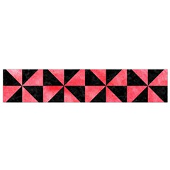 Triangle1 Black Marble & Red Watercolor Flano Scarf (small)