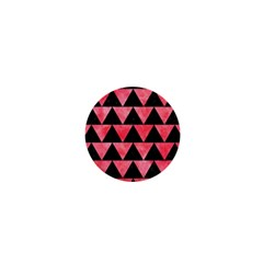 Triangle2 Black Marble & Red Watercolor 1  Mini Buttons