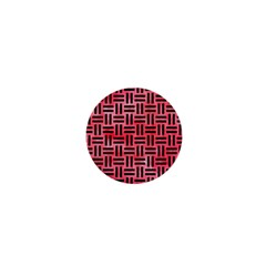 Woven1 Black Marble & Red Watercolor 1  Mini Buttons