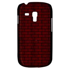 Brick1 Black Marble & Red Wood Galaxy S3 Mini
