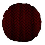 BRICK2 BLACK MARBLE & RED WOOD Large 18  Premium Flano Round Cushions Back