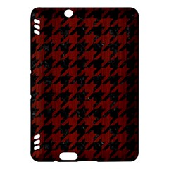 Houndstooth1 Black Marble & Red Wood Kindle Fire Hdx Hardshell Case
