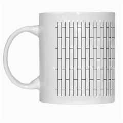 Line Black White Mugs