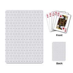 Line Black Playing Card