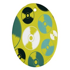 Streaming Forces Music Disc Ornament (oval)