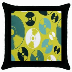 Streaming Forces Music Disc Throw Pillow Case (black)