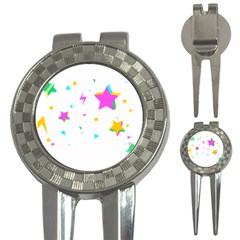 Star Triangle Space Rainbow 3 In 1 Golf Divots