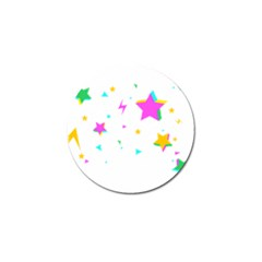 Star Triangle Space Rainbow Golf Ball Marker (10 Pack)