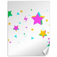 Star Triangle Space Rainbow Canvas 36  X 48