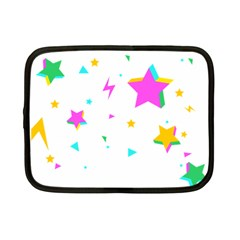 Star Triangle Space Rainbow Netbook Case (small)