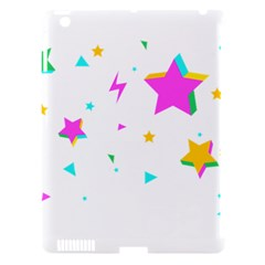 Star Triangle Space Rainbow Apple Ipad 3/4 Hardshell Case (compatible With Smart Cover)