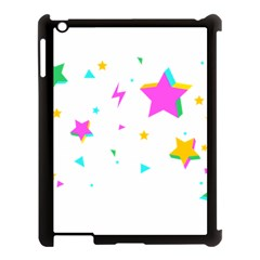 Star Triangle Space Rainbow Apple Ipad 3/4 Case (black)