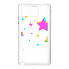 Star Triangle Space Rainbow Samsung Galaxy Note 3 N9005 Case (white)