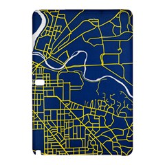 Map Art City Linbe Yellow Blue Samsung Galaxy Tab Pro 10 1 Hardshell Case