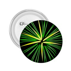 Fireworks Green Happy New Year Yellow Black Sky 2 25  Buttons
