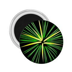 Fireworks Green Happy New Year Yellow Black Sky 2 25  Magnets