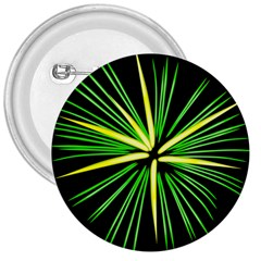 Fireworks Green Happy New Year Yellow Black Sky 3  Buttons