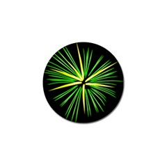 Fireworks Green Happy New Year Yellow Black Sky Golf Ball Marker (4 Pack)