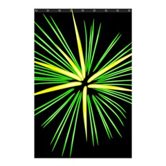 Fireworks Green Happy New Year Yellow Black Sky Shower Curtain 48  X 72  (small)