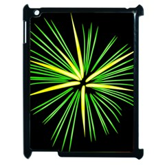 Fireworks Green Happy New Year Yellow Black Sky Apple Ipad 2 Case (black)