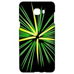 Fireworks Green Happy New Year Yellow Black Sky Samsung C9 Pro Hardshell Case