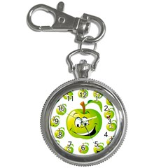 Apple Green Fruit Emoji Face Smile Fres Red Cute Key Chain Watches
