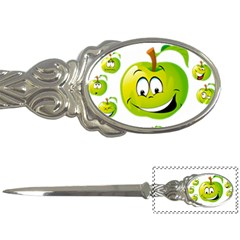 Apple Green Fruit Emoji Face Smile Fres Red Cute Letter Openers