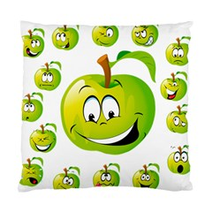 Apple Green Fruit Emoji Face Smile Fres Red Cute Standard Cushion Case (one Side)