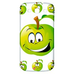 Apple Green Fruit Emoji Face Smile Fres Red Cute Samsung Galaxy S3 S Iii Classic Hardshell Back Case