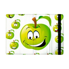 Apple Green Fruit Emoji Face Smile Fres Red Cute Ipad Mini 2 Flip Cases