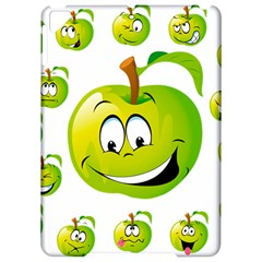 Apple Green Fruit Emoji Face Smile Fres Red Cute Apple Ipad Pro 9 7   Hardshell Case
