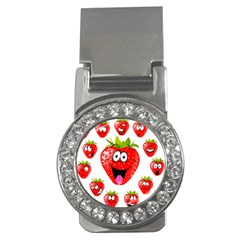 Strawberry Fruit Emoji Face Smile Fres Red Cute Money Clips (cz)
