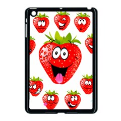 Strawberry Fruit Emoji Face Smile Fres Red Cute Apple Ipad Mini Case (black)