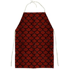Scales1 Black Marble & Red Wood Full Print Aprons