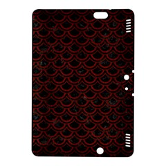 Scales2 Black Marble & Red Wood (r) Kindle Fire Hdx 8 9  Hardshell Case