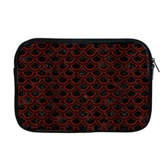 Scales2 Black Marble & Red Wood (r) Apple Macbook Pro 17  Zipper Case