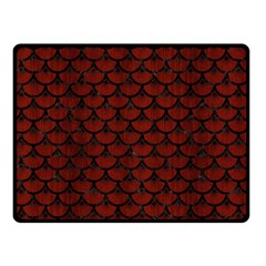 Scales3 Black Marble & Red Wood Double Sided Fleece Blanket (small)