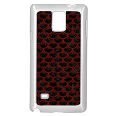 Scales3 Black Marble & Red Wood (r) Samsung Galaxy Note 4 Case (white)