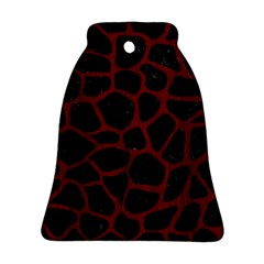 Skin1 Black Marble & Red Wood Ornament (bell)
