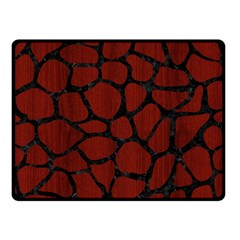 Skin1 Black Marble & Red Wood (r) Double Sided Fleece Blanket (small)