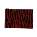 SKIN4 BLACK MARBLE & RED WOOD (R) Cosmetic Bag (Large)  Front