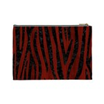 SKIN4 BLACK MARBLE & RED WOOD (R) Cosmetic Bag (Large)  Back