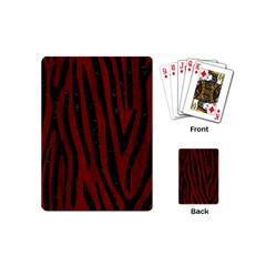Skin4 Black Marble & Red Wood (r) Playing Cards (mini)