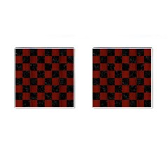 Square1 Black Marble & Red Wood Cufflinks (square)