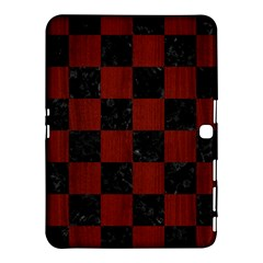 Square1 Black Marble & Red Wood Samsung Galaxy Tab 4 (10 1 ) Hardshell Case
