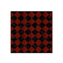 Square2 Black Marble & Red Wood Satin Bandana Scarf