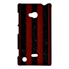 Stripes1 Black Marble & Red Wood Nokia Lumia 720